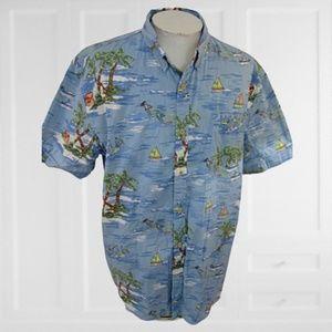 St Johns Bay Men Hawaiian ALOHA shirt 2XL tropical